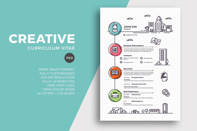 Creative Resume & CV Template CV Samples Pinterest