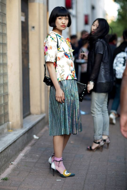 c4caed6e3310 Street style  the best dressed women at the men s spring summer  16 shows -  Vogue Australia