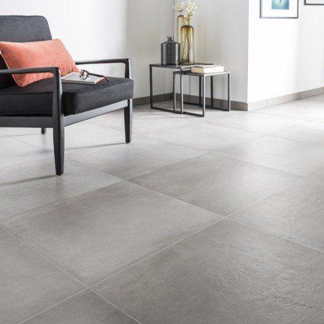 Carrelage Sol Et Mur Gris Ciment Effet Beton Time L 60 X L 60 Cm Carrelage Interieur Carrelage Sol Carrelage Salon