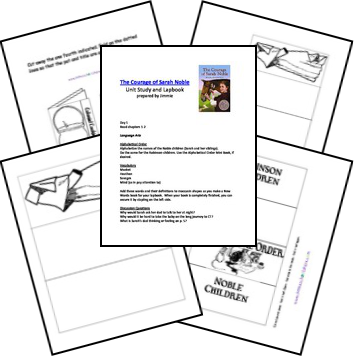 The Courage of Sarah Noble Unit Lessons and Printables