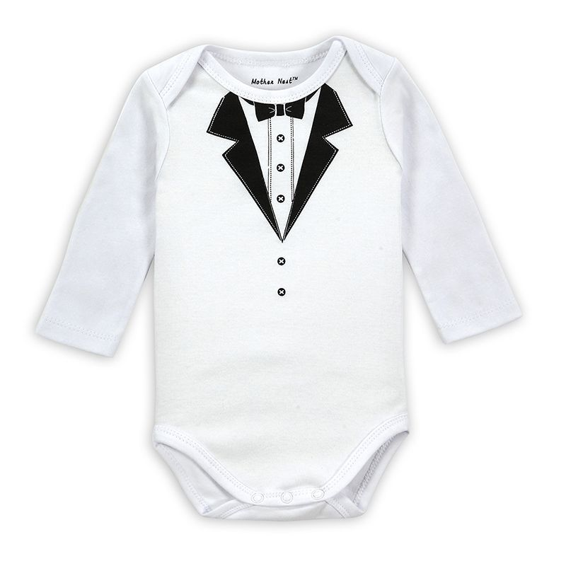 Mother Nest Brand 2014 Fashion Autumn Fisher Long Sleeve Gentleman Bodysuits Baby Costume Newborn Clothing for Babies Boy Body