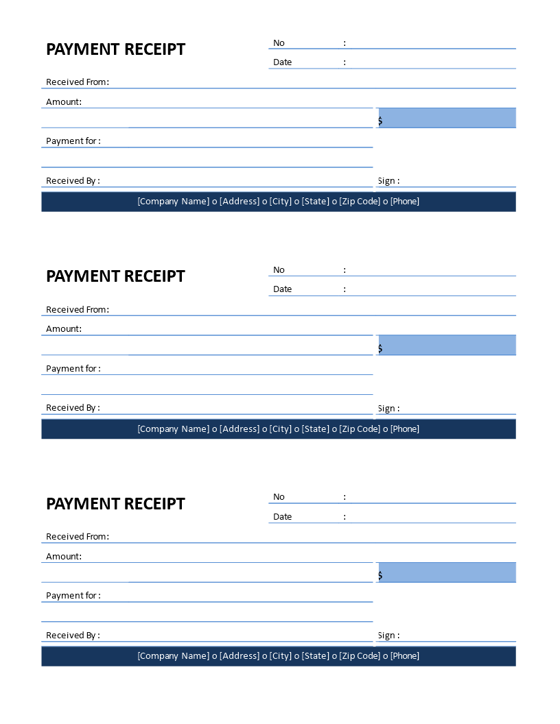 Download This Free Printable Company Payment Receipt Template For Small And Medium Sized Enterpris Free Receipt Template Receipt Template Invoice Template Word