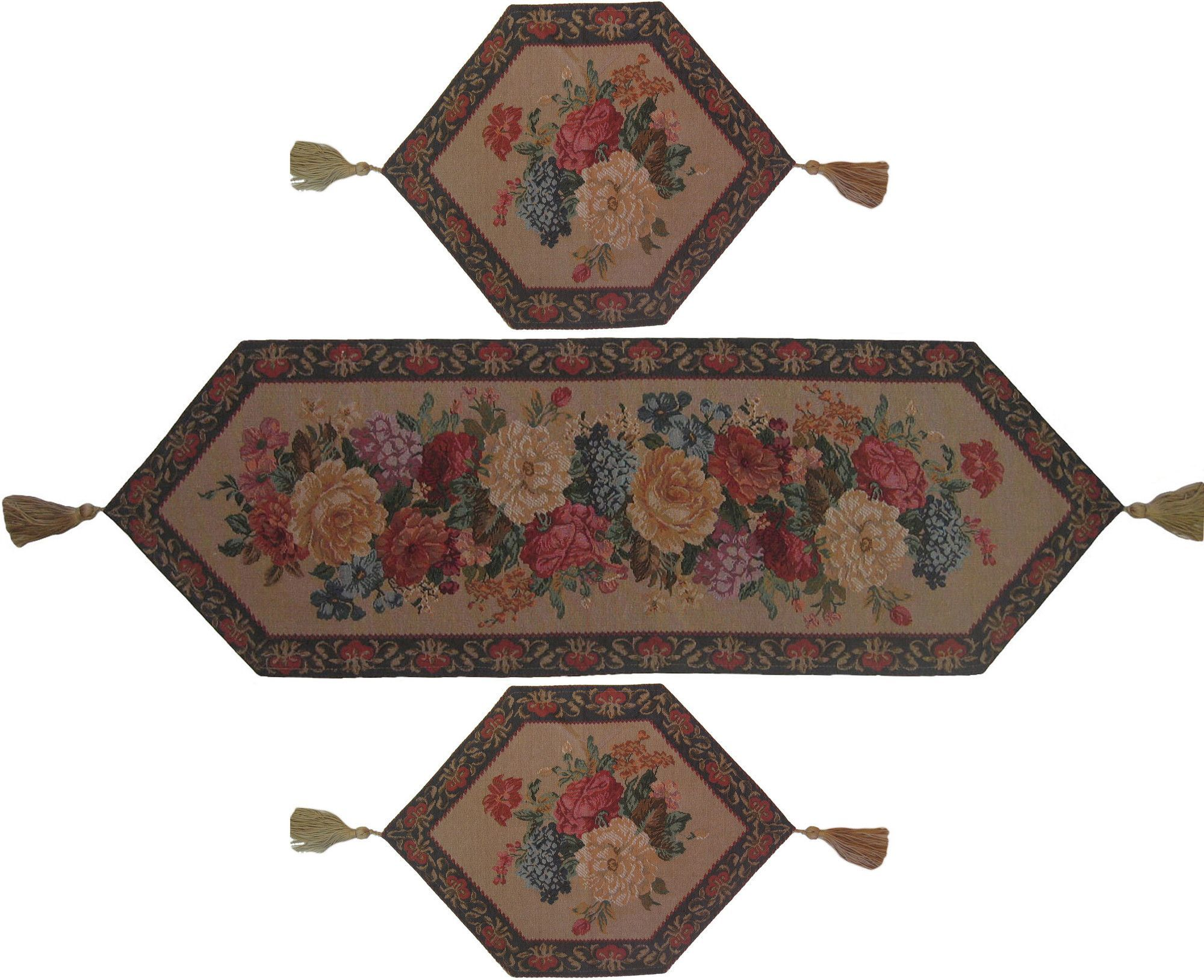 Breath of Spring 3 Piece Woven Table Runner Set