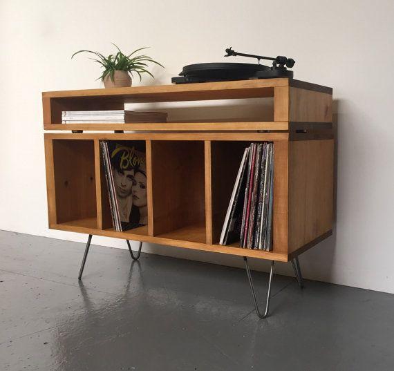Stacked Sonor TV/ Media Console Vinyl Record by DerelictDesign
