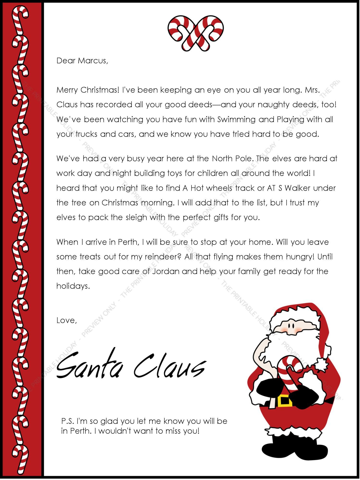 Christmas letter from santa christmas pinterest christmas christmas letter from santa spiritdancerdesigns Choice Image