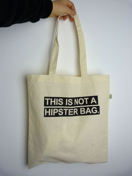This Is Not A Hipster Bag Organic Cotton Jute From Ilovemixtapes By Dawanda