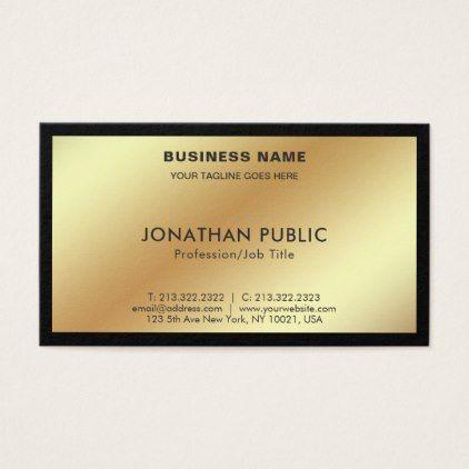 Modern stylish black gold creative simple plain business card modern stylish black gold creative simple plain business card create your own businesscards business cyo diy custom reheart Images