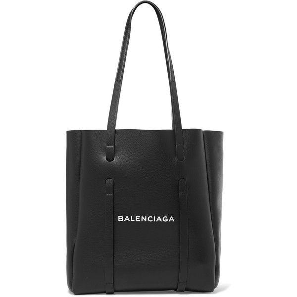 Xxs Printed Textured-leather Tote - Black Balenciaga LClx2tSr
