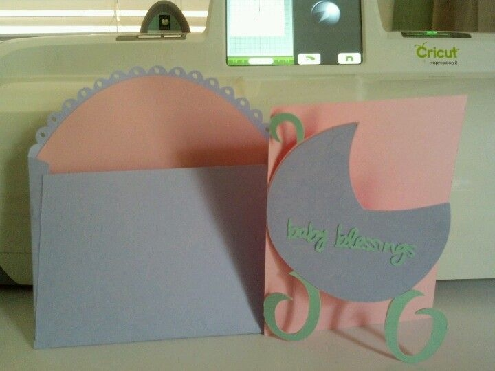 Baby shower cards made with my cricut