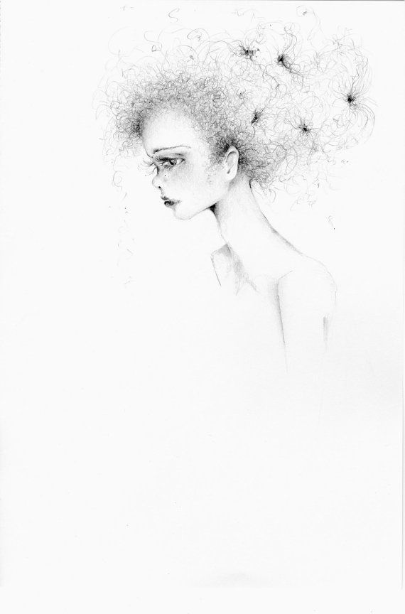 FineArt OOAK Pencil Drawing Illustration Hand by ABitofWhimsyArt