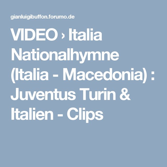 Nationalhymne Von Italien