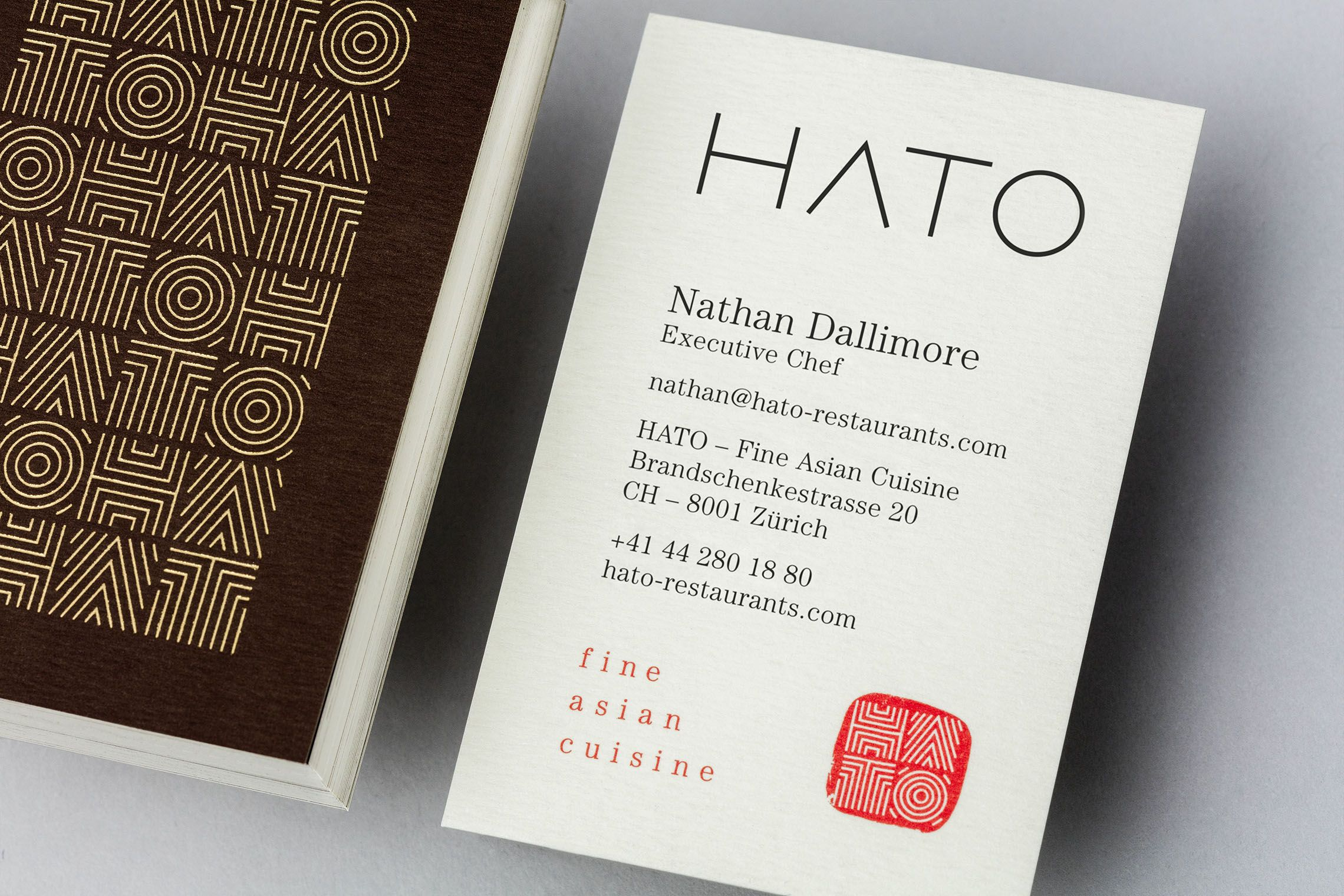 Brand Identity Hato Restaurants Visitenkarte Entwicklung