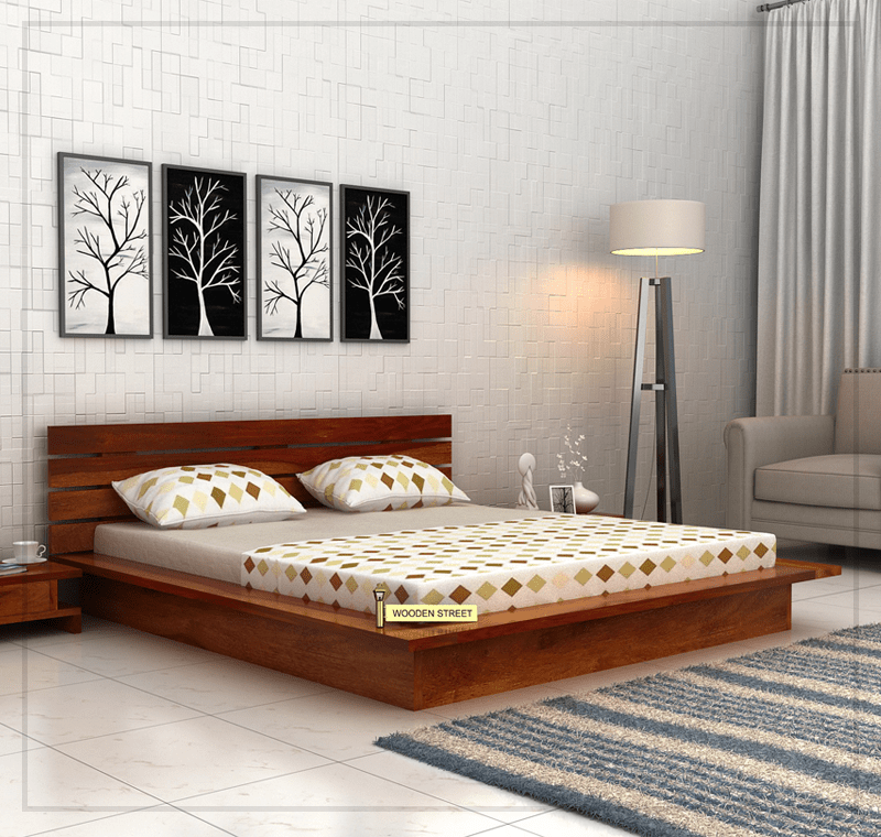 The Dwayne Low Floor Platform Bed will help to balance the visual ...