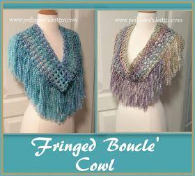 Photo of Fringed Colorado Homespun Cowl Crochet Pattern | Posh Pooch Desgisn