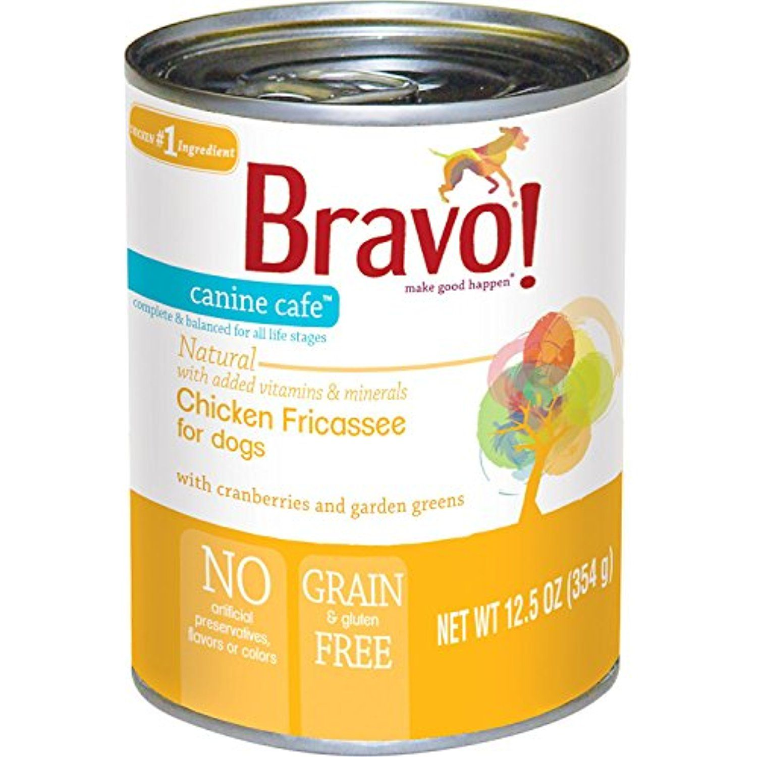 Case Of 12 Bravo Canine Cafe Chicken Fricassee Canned Dog Food