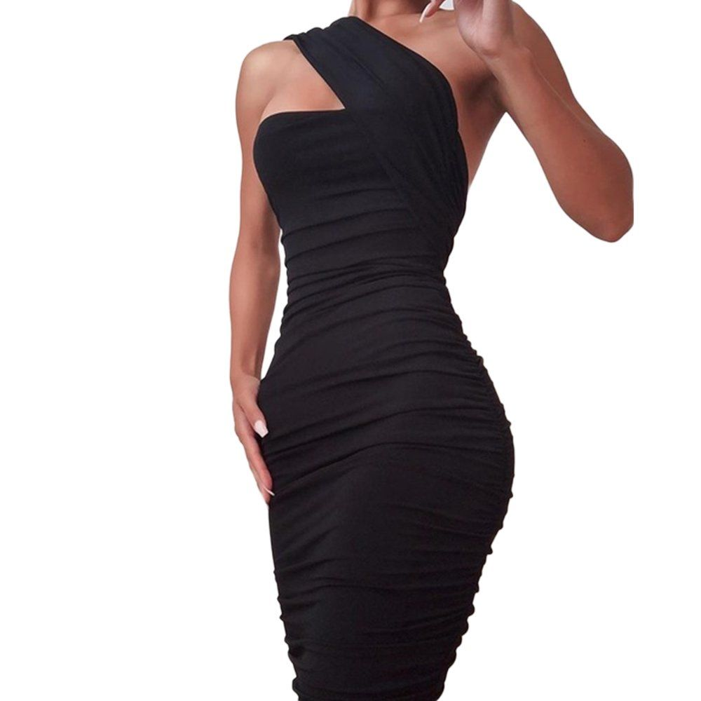 Lovaru Women One Shoulder Evening Dress Walmart Com In 2021 College Girl Fashion Dresses Evening Dresses [ 1000 x 1000 Pixel ]
