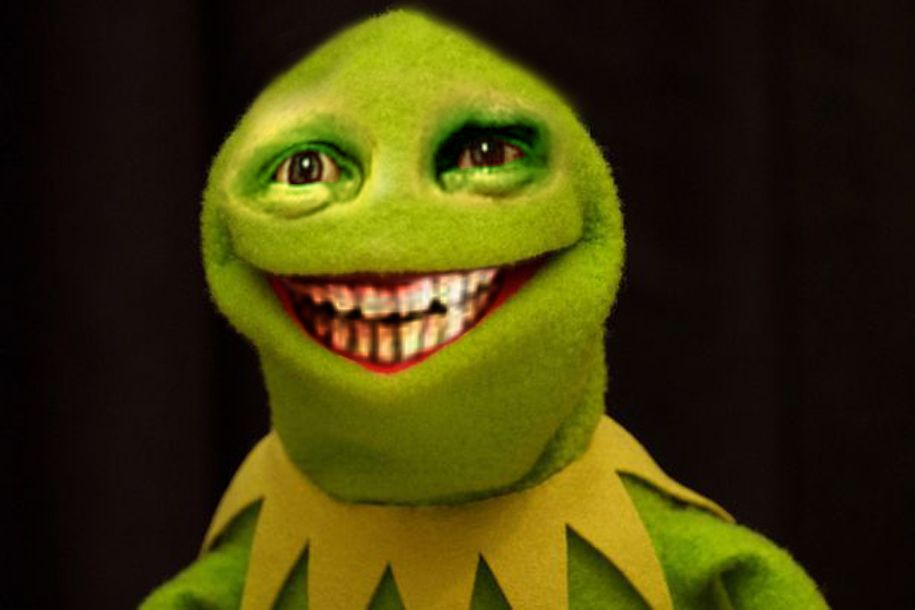 creepy kermit | Creepy Muppets (adult humor) | Kermit