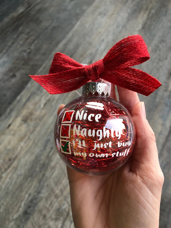 Nice, Naughty, I'll Just Buy My Own Stuff Christmas Tree ...