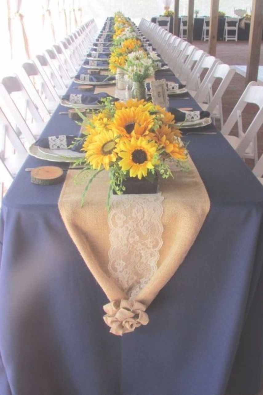 Marine navy blue and sunflower yellow rustic country