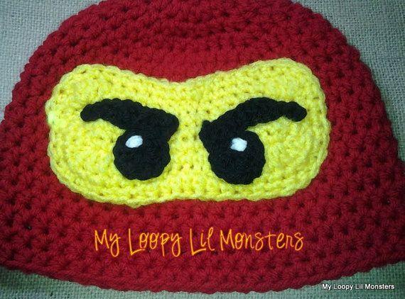 Lego Ninjago Hat by MyLoopyLilMonsters on Etsy, $20.00