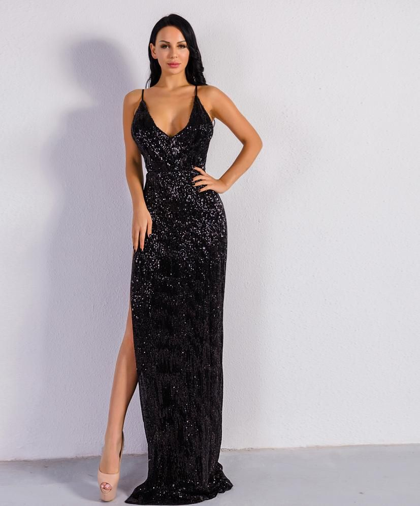 Black Extravaganza Black Dinner Dress Maxi Dress Party Evening Gown Dresses