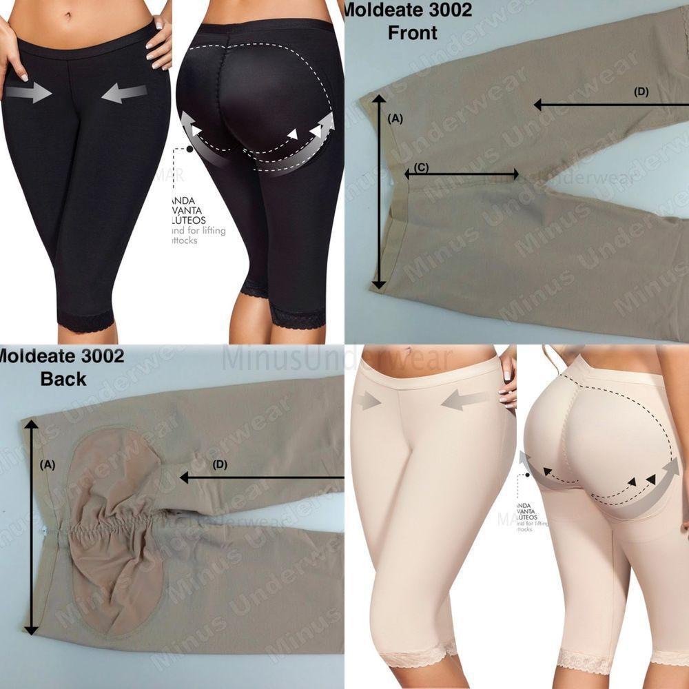 Moldeate 3002 Capri Short Push Up long Leg  Style Body Shaper