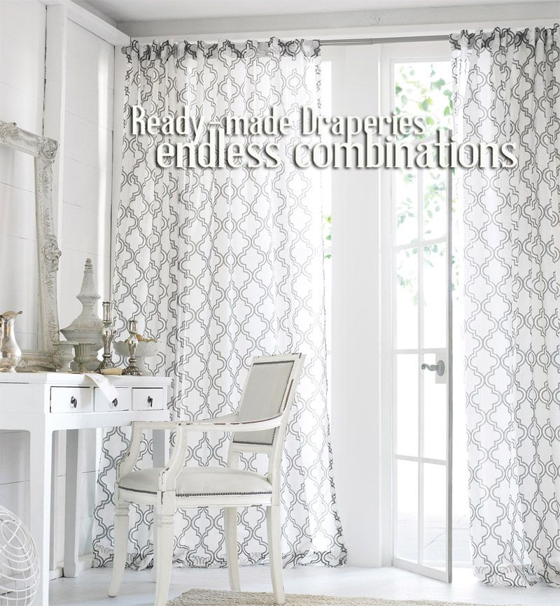 Penrose Burnout Sheer Curtains In Ready Made Extra Long