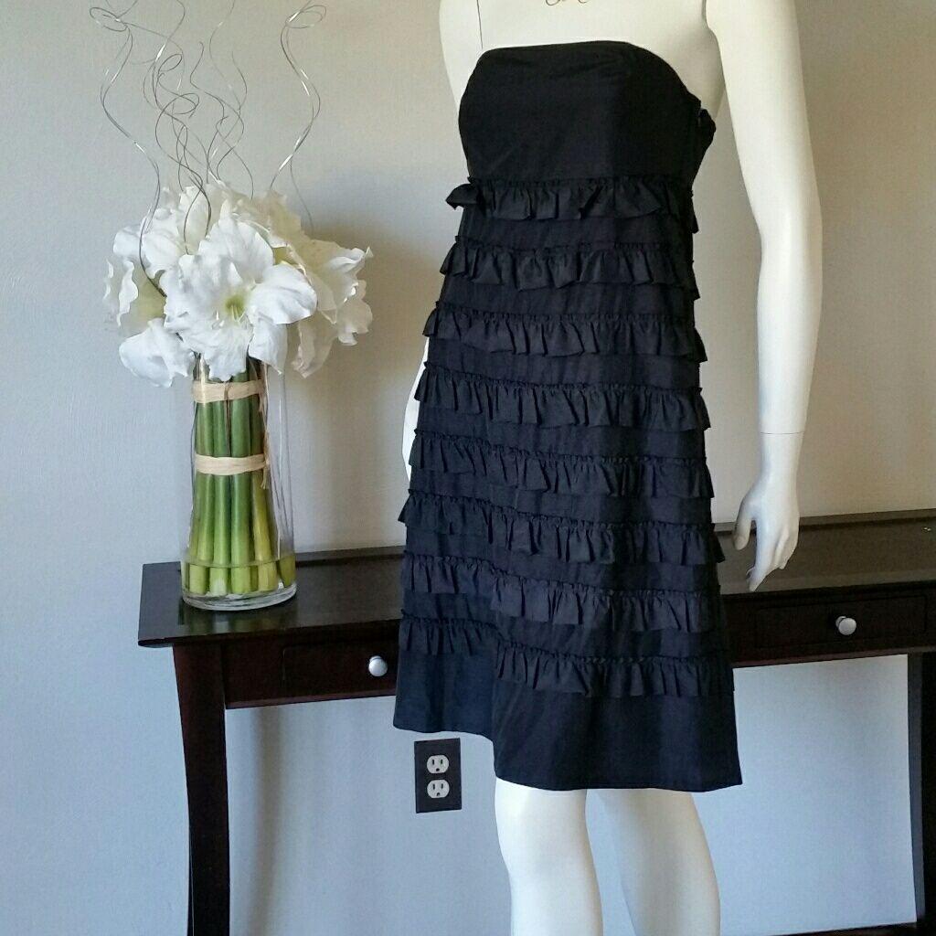 Bogosalestrapless black ruffle dress by gap products