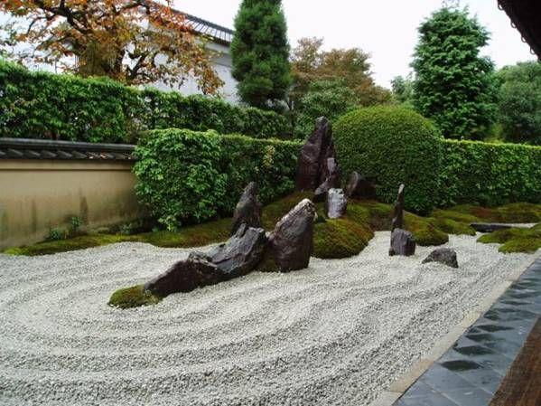Similar a la tendencia feng shui, los jardines japoneses buscan la