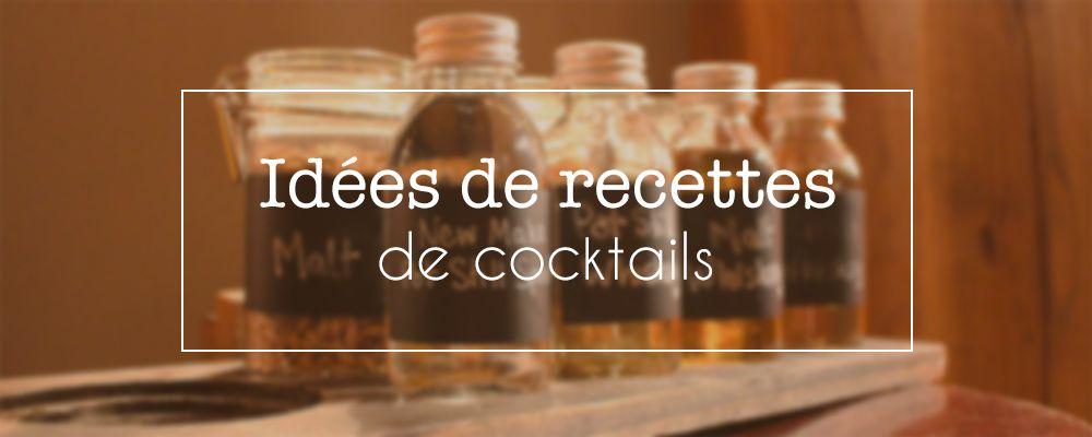 Découvrez des idées de recettes de cocktails faciles à base de whisky, le Honey Sour et le Pink Lady.