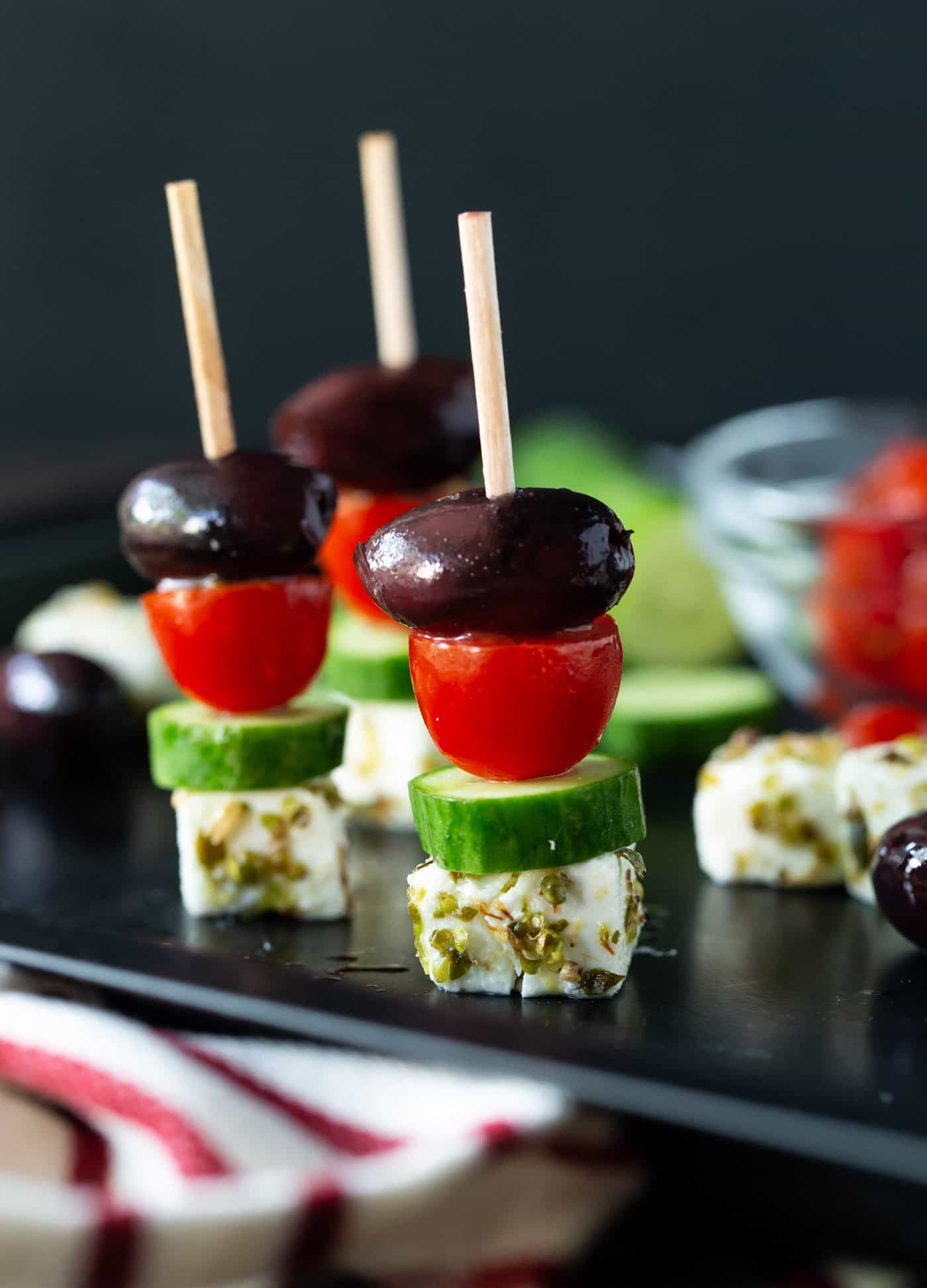 Fresh, colorful and delicious, these makeahead Greek