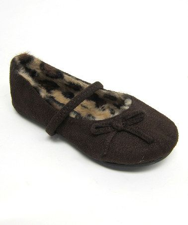 Take a look at this Brown Rena Strap Flat by Little Angel on #zulily today!