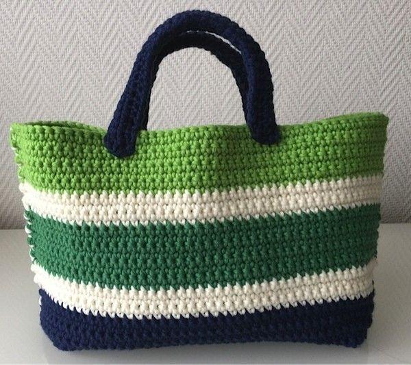 Häkelanleitung Tasche kunterbunt (schnell und einfach) | Crochet ...