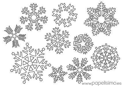 Copos de nieve para colorear   NAVIDAD   Pinterest   Copos de nieve ...