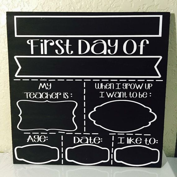 First Day and Last Day of School Chalkboard by MemawsCrafts2