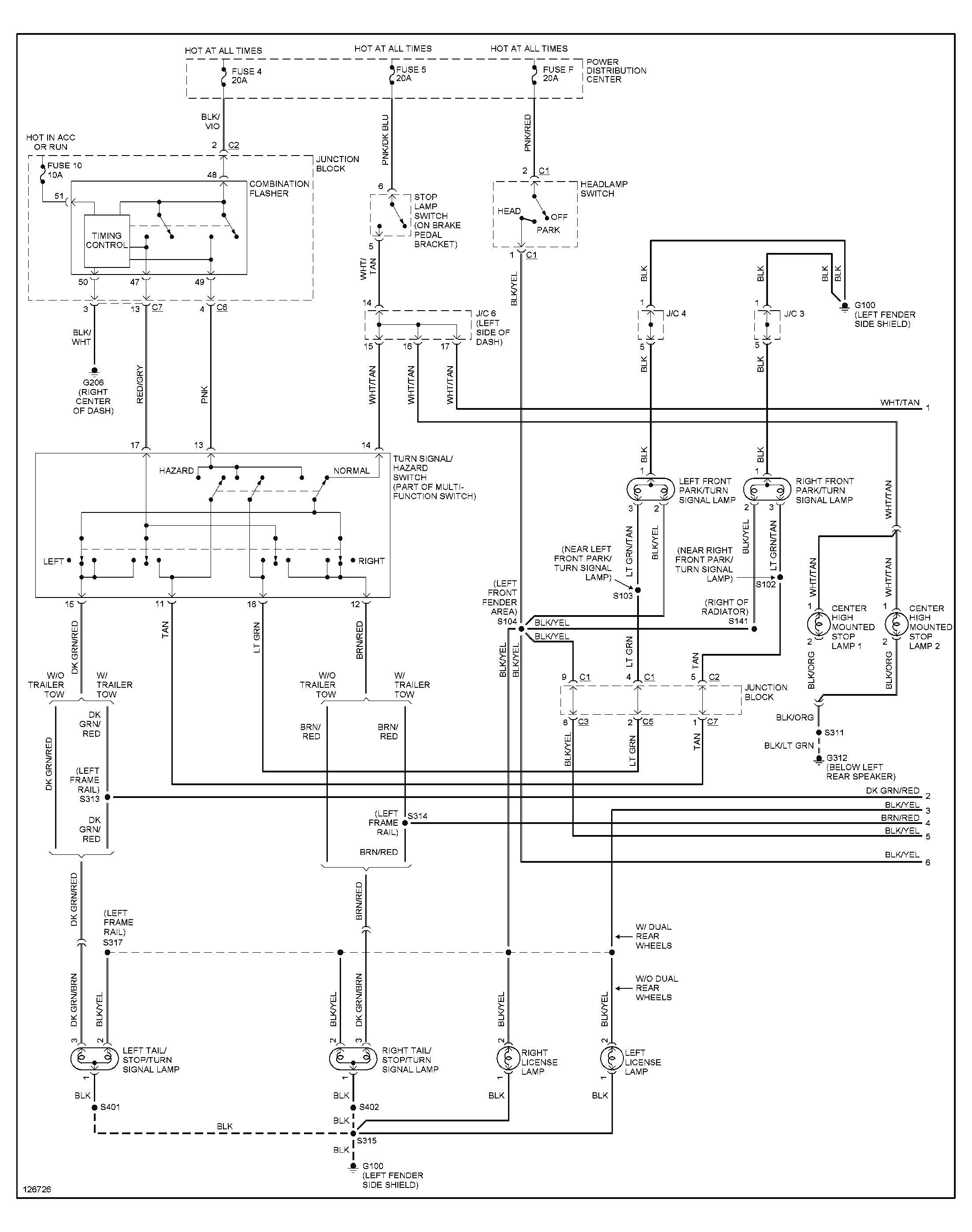 Unique 1999 Dodge Ram 1500 Trailer Wiring Diagram  Diagram