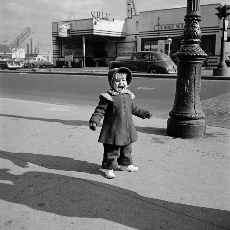Vivian maier new york may 1954 girl crying silver gelatin print 12 x 12 on 16x20 paper