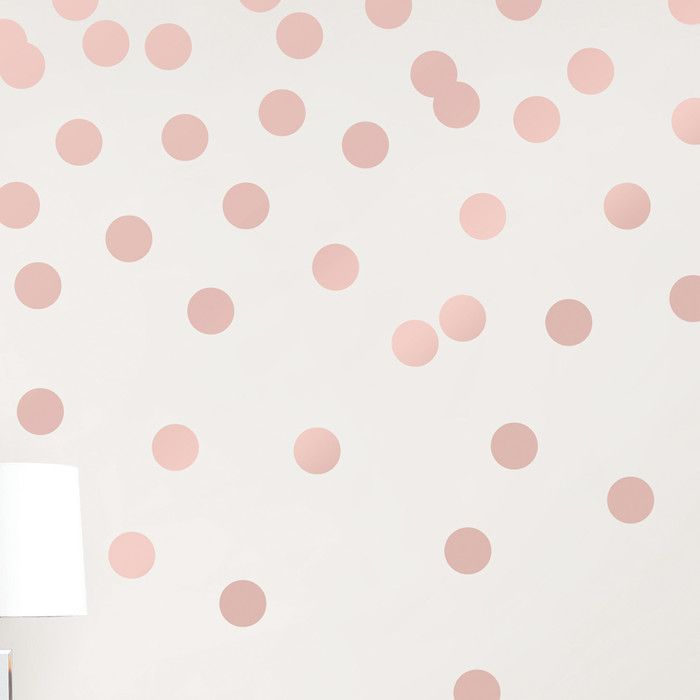 Girls Rose Gold Wallpaper: Dots Metallic Wall Sticker