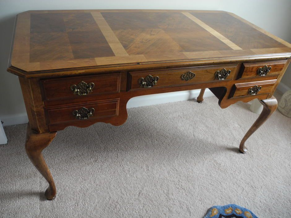 Antique Queen Anne Writing Desk - Antique Queen Anne Writing Desk Office/Media Room Remodel