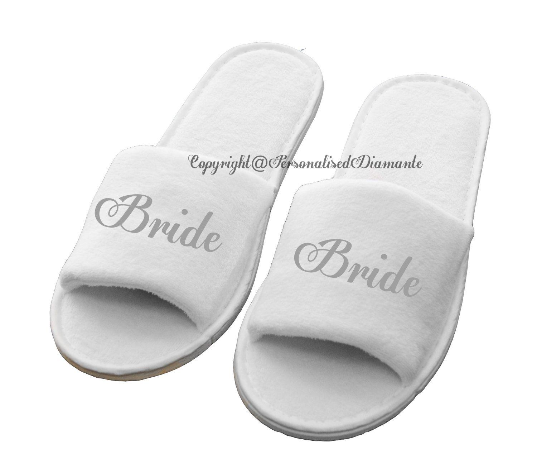 a54eba1e740fb Personalised bride slipper