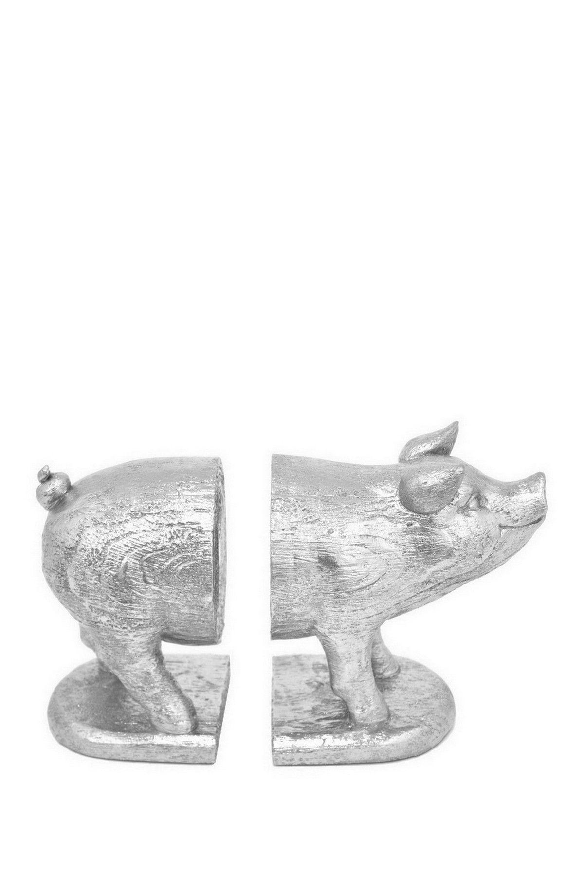 Three Hands | Silver Resin Pig Bookend - Set of 2 | Nordstrom Rack  Sponsored by Nordstrom Rack.
