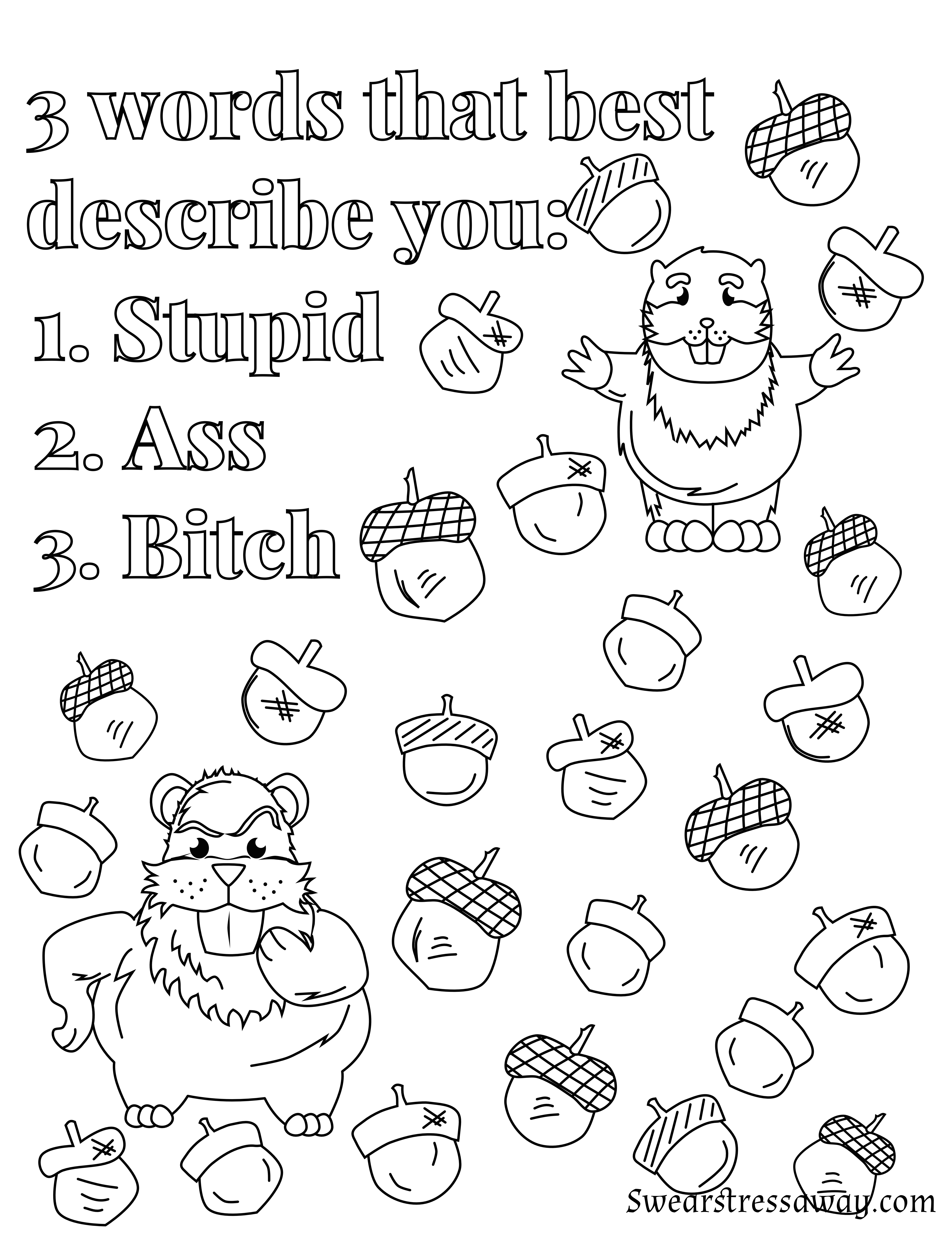 Coloring pages for adults curse words - Swear Word Coloring Page Adult Coloring Page