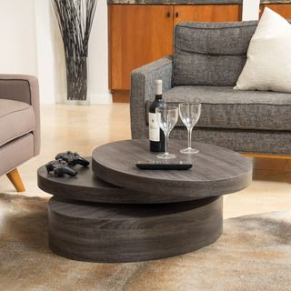 carson oval mod rotating wood coffee tablechristopher knight