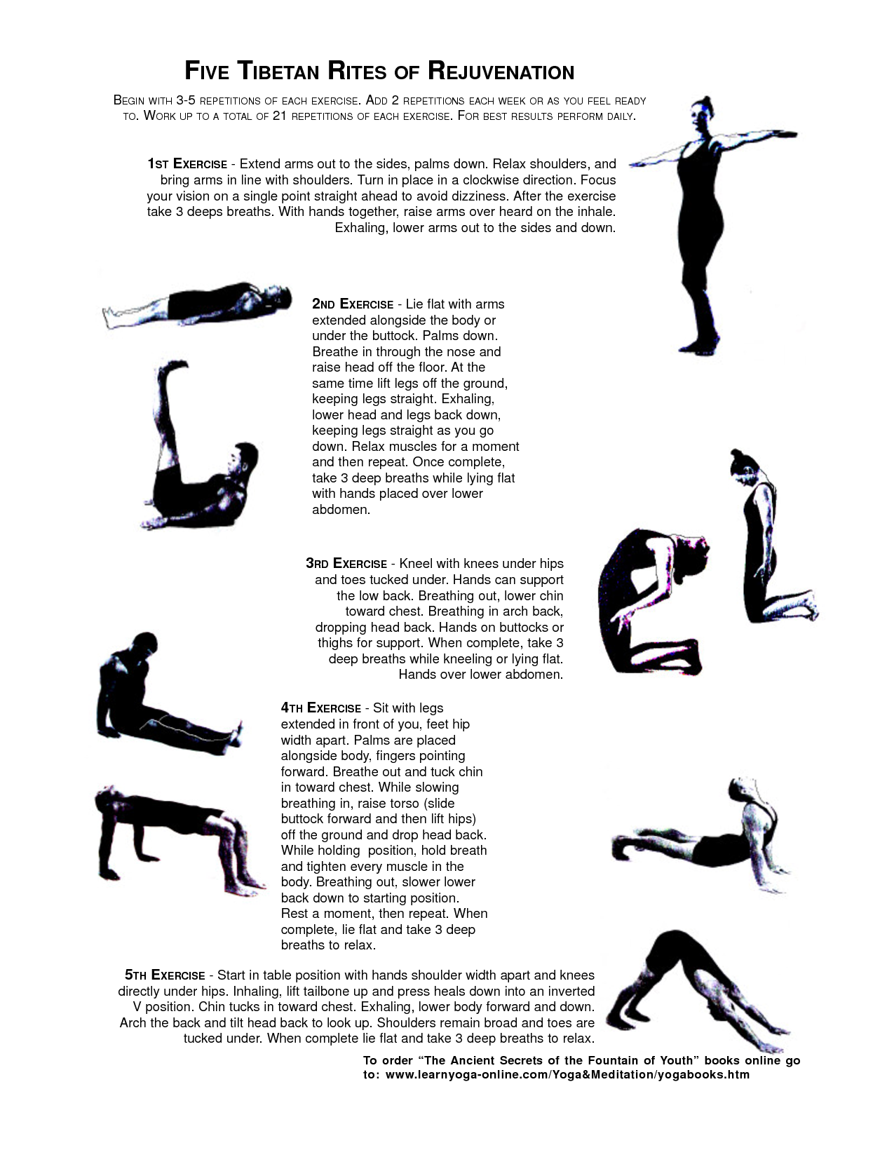 Stay Young And Healthy By Doing These Ancient Tibetan Exercises Tibetan Rites Five Tibetan Rites 5 Tibetan Rites