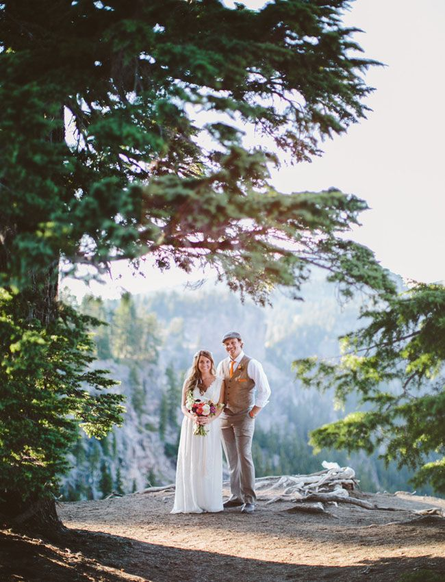 Idyllic Oregon Lake Elopement Stacy Chris Wedding