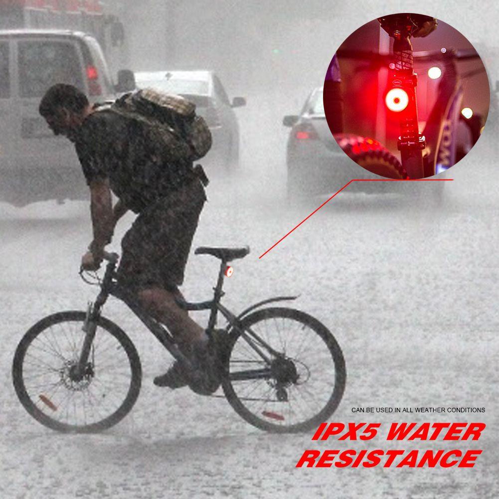 SpoLite LED Bike Light 56 Hours Long Run TimeHigh Intensity Bicycle LightUSB Rechargeable Tail Light5 ModeIPX5 Waterproof LightsRear