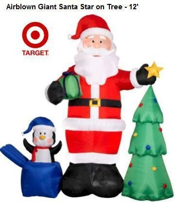 Bring Santa Star and Christmas tree to your home at Target Clearance