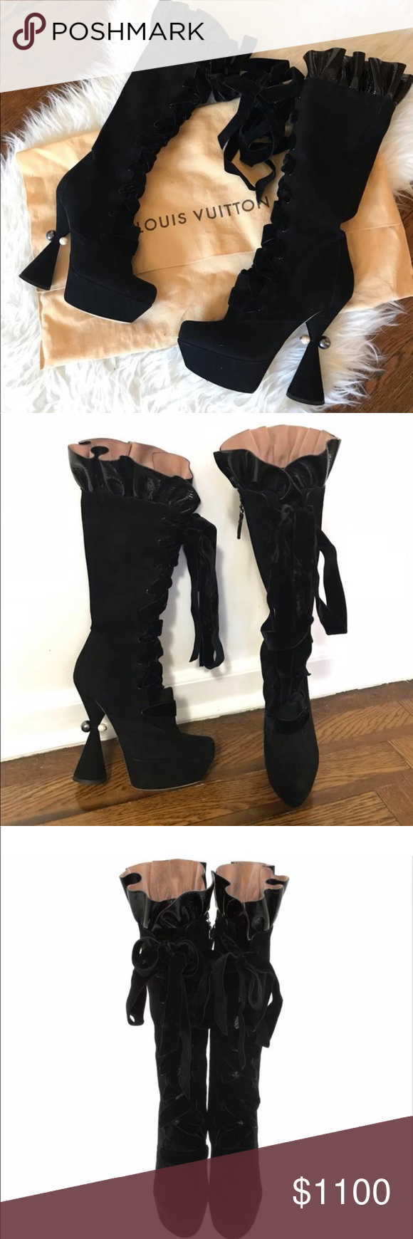 6a4a71ba127 Louis Vuitton Cancan Suede Boots 37.5 Louis Vuitton Cancan Boots These are  stunning and elegant Some