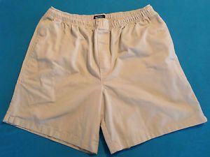 Mens Size L (36/38) Puritan Brand Khaki Shorts, Drawstring Elastic ...