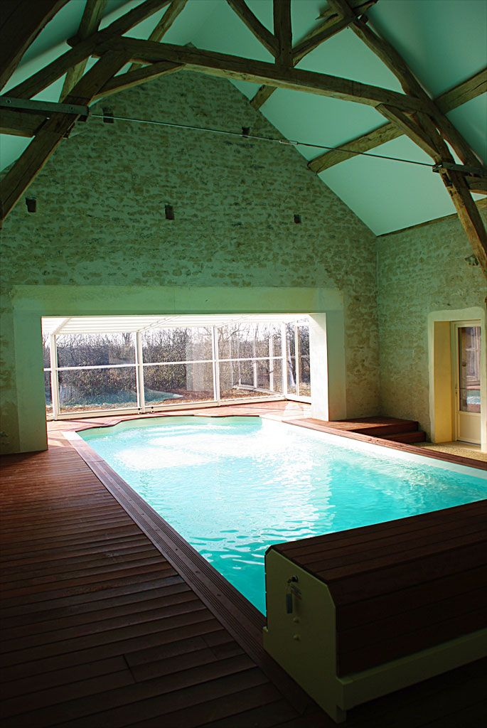 Piscine dans grange google search dream home swimming pools backyard indoor swimming - Gite bourgogne piscine interieure ...